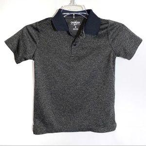 Boys Dark Gray Polo Shirt